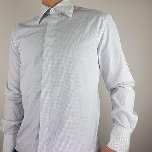 Kilgour Savile Row London Polka Dot Dress Shirt